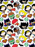 Justice League Chibi Design Print