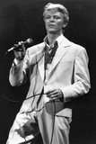 David Bowie Performs at Concert in Brussels, 1983 Photographic Print by  Bjaaland