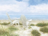 Beach Chairs Giclee Print by Arnie Fisk