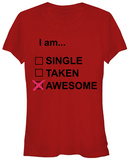 Juniors: Valentines- I Am Awesome T-shirts