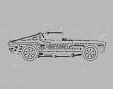 Mechanics II Giclée-tryk af Justin Lloyd