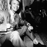 David Bowie Being Photographed at Press Reception in London's Claridge Hotel, 1983 Photographic Print by  Anonymous