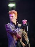 David Bowie Performs During Concert Celebrating his 50th Birthday, Madison Square Garden, 1997 Photographic Print by RON FREHM