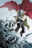 Thor No. 1 Cover, Featuring: Thor (Female), Frost Giants Cartel de plástico por Fiona Staples
