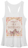 Juniors Tank Top: Downton Abbey- Floral Weekend T-Shirt