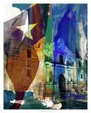 Alamo Flag Giclee Print by Sisa Jasper