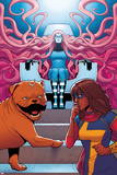 Ms. Marvel No. 9 Cover, Featuring: Medusa, Ms. Marvel, Lockjaw Print by Jamie McKelvie