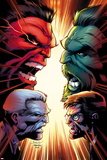 Hulk No. 15 Cover, Featuring: Hulk, Red Hulk, Bruce Banner, Thunderbolt Ross Prints by Jason Keith