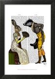 Look Of Love Regency Badger & Hare Couple Prints by  Fab Funky