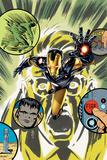 Original Sin No. 3.2 Cover, Featuring: Iron Man, Hulk, Bruce Banner Posters by J.G. Jones