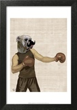 Boxing Bulldog Portrait Posters by  Fab Funky