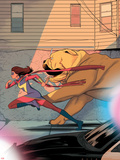 Ms. Marvel No. 10 Cover, Featuring: Ms. Marvel, Lockjaw Print by Kris Anka