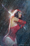 Marvel Knights Presents Cover, Featuring: Elektra Plastic Sign
