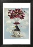 Blackbird In Teacup Prints by  Fab Funky