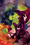 She-Hulk No. 11 Cover, Featuring: She-Hulk, Titania Plastic Sign by Kevin Wada
