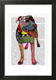 Staffordshire Bull Terrier - Patchwork Art by  Fab Funky