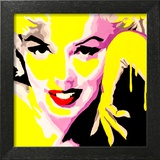 Temptress Marilyn Monroe Framed Giclee Print by Pop Art Queen