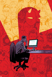 Daredevil No. 15 Cover, Featuring: Daredevil, Matt Murdock, Foggy Nelson, Bullseye and More Plastic Sign by Chris Samnee