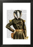 General Badger Posters by  Fab Funky