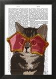 Kitten in Star Sunglasses Prints by  Fab Funky