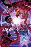 Giuseppe Camuncoli - Spider-Verse No. 2 Cover, Featuring: Spider Woman, Spider-Man, Scarlet Spider, Spider-Punk and More Plastové cedule