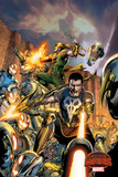 Marvel Secret Wars Cover, Featuring: Punisher, Iron Fist, Ultron Posters