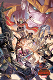 Marvel Secret Wars Cover, Featuring: Thanos, Gamora, Star-Lord, Nova Posters