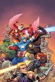 Avengers Vs No. 1 Cover, Featuring: Hawkeye, Black Widow, Captain America, Red Skull, Hulk and More Poster av Tom Raney