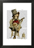Banjo Bear Art by  Fab Funky