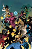 New Warriors No. 11 Cover, Featuring: High Evolutionary, Nova, Justice, Scarlet Spider and More Posters by Takeshi Miyazawa