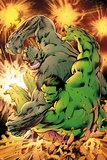 Savage Hulk No. 2 Cover, Featuring: Hulk, Abomination Plastic Sign by Alan Davis