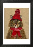 Maine Coon Cat Art by  Fab Funky