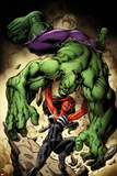 Hulk No. 8 Cover, Featuring: Hulk, Red She-Hulk Print by Jason Keith