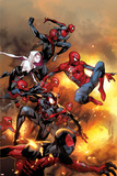 The Amazing Spider-Man No. 13 Cover, Featuring: Scarlet Spider, Spider-Man, Spider-Ham and More Znaki plastikowe autor Olivier Coipel