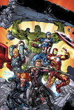 Michael Ryan - Avengers: Operation Hydra No. 1 Cover, Featuring: Black Widow, Hawkeye, Iron Man, Captain America Obrazy