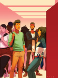 Ms. Marvel No. 15 Cover, Featuring: Ms. Marvel (Kamala Khan), Kamran, Jamir Khan Posters by Kris Anka