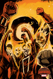 Marvel Secret Wars Cover, Featuring: Ghost Rider Cartel de plástico