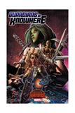 Marvel Secret Wars Cover, Featuring: Gamora, Rocket Raccoon, Angel, Drax Prints