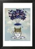 Owl In Teacup Print by  Fab Funky