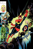Captain Marvel No. 10 Cover, Featuring: Captain Marvel, Spider Woman, Kit Renner Posters by David Lopez