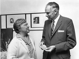 Marine Biologist Dixy Lee Ray and Chemist Glenn Seaborg in Seattle in 1968 Photo