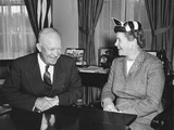 President Eisenhower with Senator Eva Kelley Bowring, a Republican from Nebraska Photo
