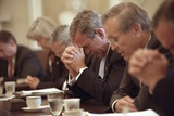 President George W. Bush Opens a Cabinet Meeting with a Prayer on Sept. 14, 2001 Photo