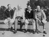 President Dwight Eisenhower with Golf Champions at Augusta, Georgia, Ca. 1953 Photo