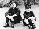 Japan's Prince Hiro (Left) and Prince Aya Where their School Uniforms Photo