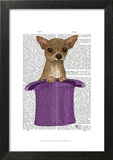 Chihuahua in Top Hat Poster by  Fab Funky