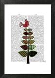 Tartan Tree Illustration Prints by  Fab Funky