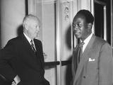 President Eisenhower with Kwame Nkrumah, President of Ghana Foto