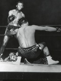 Robert Villemain, Goes Down from a Punch by Sugar Ray Robinson in the 12th Round Photo