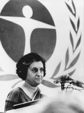 Indian Premier Indira Gandhi Speaking at the United Nations Environment Conference Photo